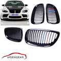 1set Gloss Black M-color Hood Grills Front Grille For BMW E92 Coupe 2007 - 2010 E93 Convertible 2D 2008 - 2013 C/5