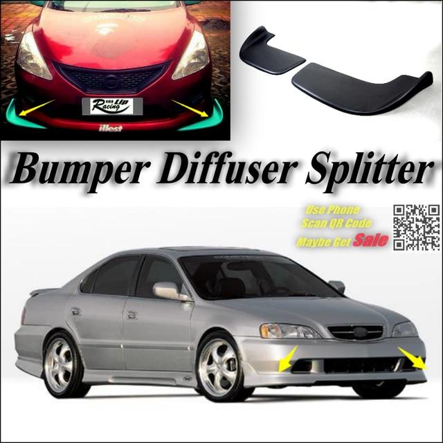 Car Splitter Diffuser Bumper Canard Lip For Acura TL Tuning Body Kit - Acura tl bumper