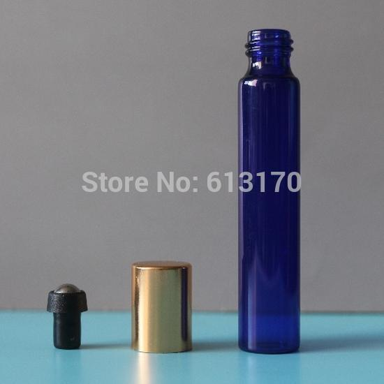 10ml Blue Glass Roll On bottles Black Cap Empty Essential Oil Bottle Perfume Bottle Portable vials Metal Roller Free Shipping fcl wholesale 5 10 15 20 30 50 100ml empty blue glass essential oil bottle without cap