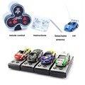Coca-cola Pode Mini Rc Radio Remote Control Racing Micro Elétrica 1/64 carrinho de controle 4WD Mini Carro Brinquedos Para Meninos Carro Pequeno brinquedos