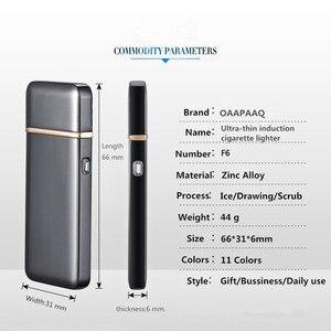 Image 5 - Пальсма импульсная зажигалка USB, перезаряжаемая Электронная зажигалка, ультратонкая Зажигалка для сигарет, Encendedor, без сигар, лазерное название
