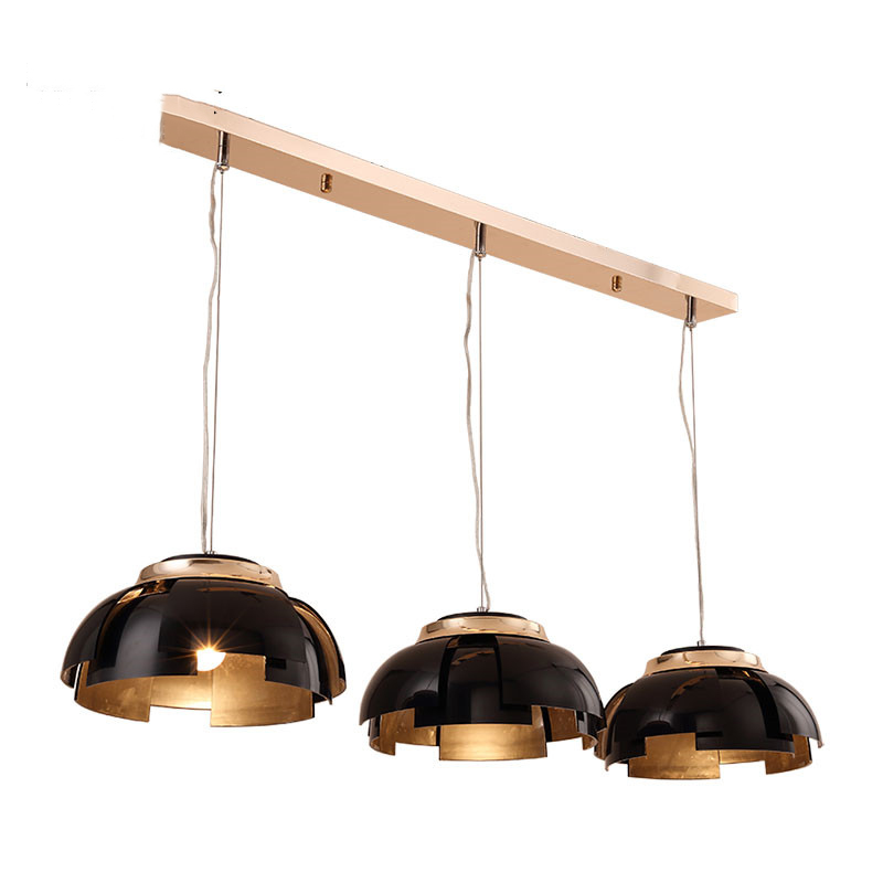 3 Lights Nordic Black / Gold Northern Europe Modern Creative Iron Pendant Lamp Bar Cafe Restaurant Lamp E27 Lights Free Shipping