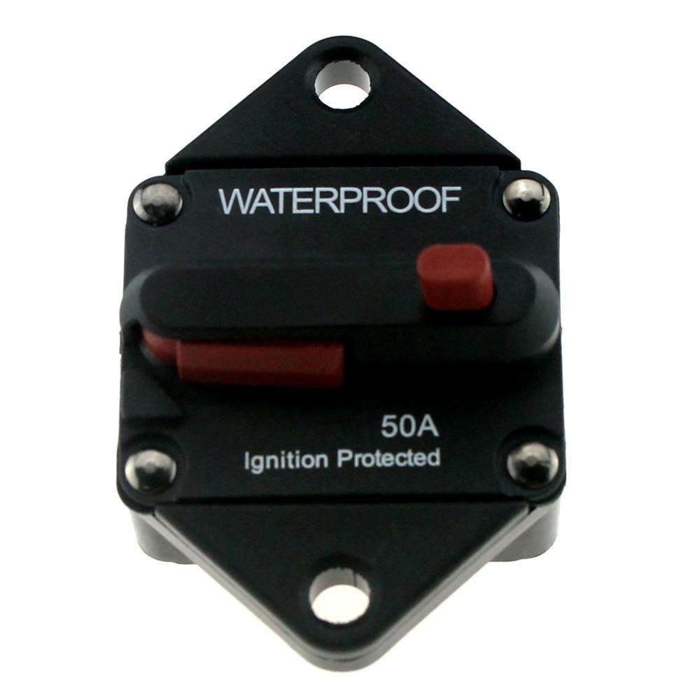 medium resolution of 48v dc 50 100 150 amp car truck rv bus marine boat circuit breaker manual reset ignition protected fuse box