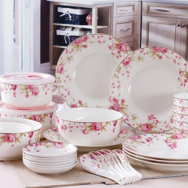 28 bone china dinnerware set ceramic dishes set bone china bowl set microwave plastic bowl & 28 bone china dinnerware set ceramic dishes set bone china bowl set ...
