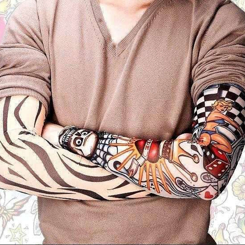 Beauty & Health 6pcs Unisex Temporary Fake Slip On Tattoo Arm Sleeves Kit New Fashion Sunscreen #8 New Varieties Are Introduced One After Another