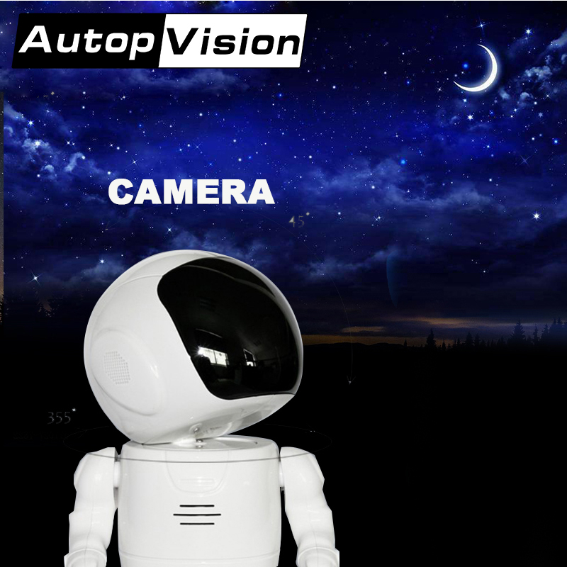 A180 Fashion Robot shape wifi camera support phone control Head Turn support  phone remote viewing Spaceman astronaut toy camera-in Surveillance Cameras from Security & Protection