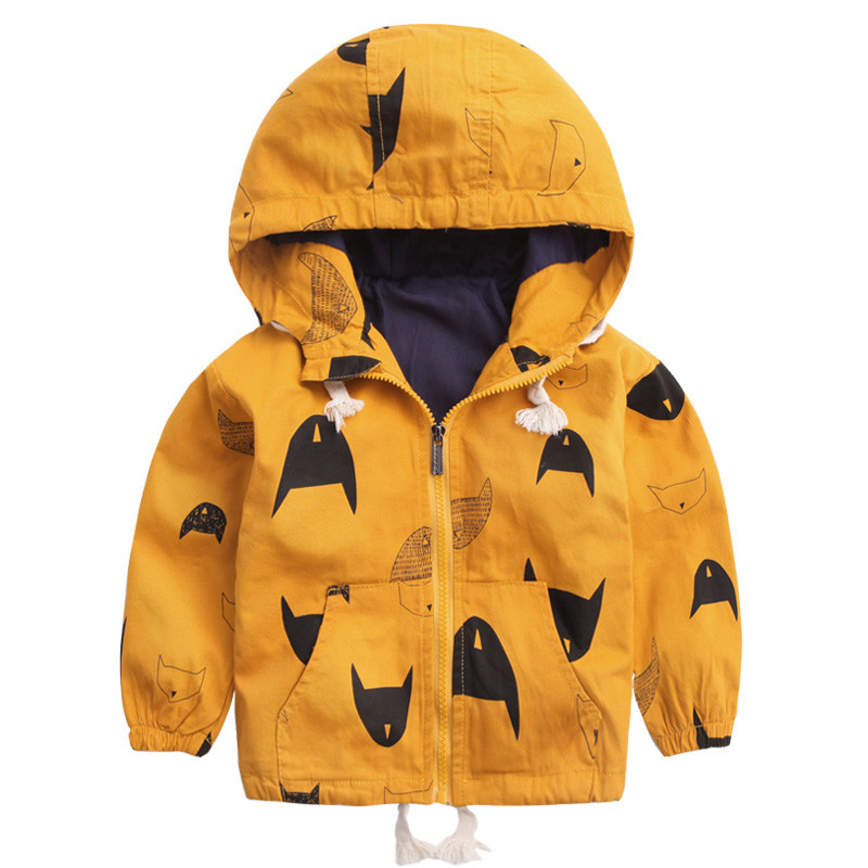 18M-6T Fashion Spring Autumn Boys Hooded Jackets Cartoon Monster & Penguin Print Outwear Good Quality Blouson Garcon CMB349 (5)