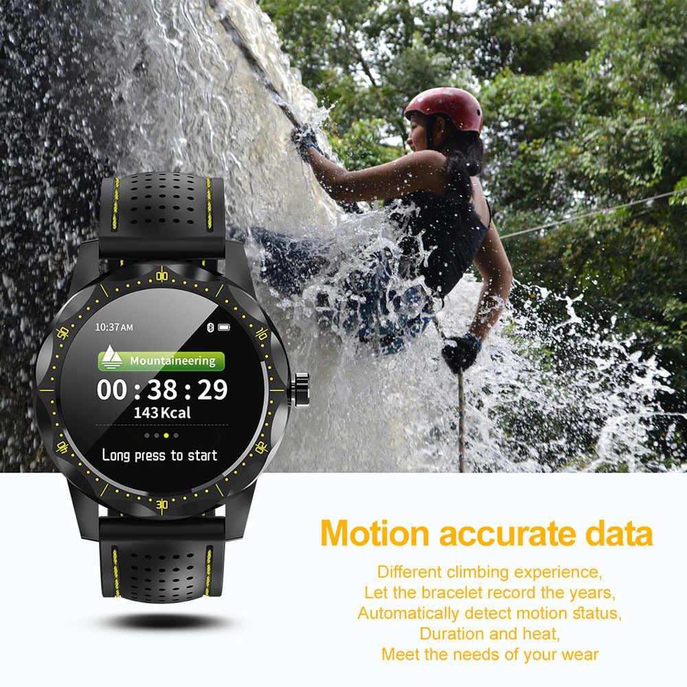 スカイ 1 プロスマート腕時計メンズ心拍数血圧活動フィットネストラッカースマートウォッチ IP68 防水時計 android apple