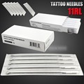 Box Of 50pc Tattoo Sterile Disposable Gun Machine Top Quality Ink Needles Supplies 11RL Round Liner Supply New Style For Hot