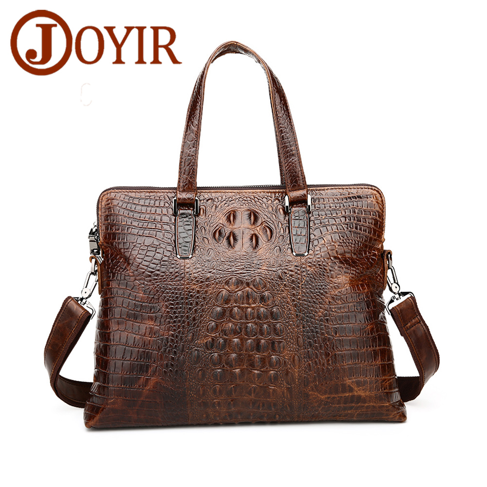 JOYIR Genuine Leather Shoulder ags Business Men Briefcase Bag Brand Laptop Bag Briefcase Male Leather Messenger Crossboby Bags цена 2017