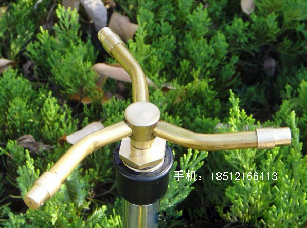 4 Stars Rotating Copper Micro Gardening Lawn Sprinklers Garden Irrigation Agricultural Low Pressure Sprayer