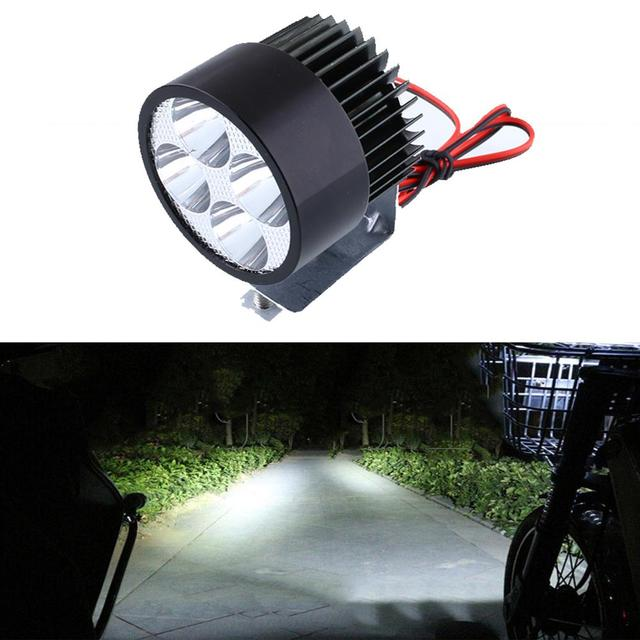 Motocicleta motocicleta e-bike 20 W brillante ahorro 12 V-85 V 4 LED faro cabeza Luz blanco