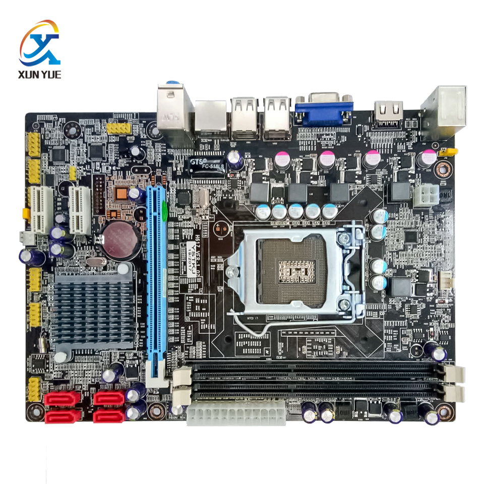 100% OEM New H61 Desktop Motherboard H61 LGA 1156 DDR3 16G For i3 i5 i7 All-Solid Micro-ATX On Sale asus p7h55d m pro desktop motherboard h55 socket lga 1156 i3 i5 i7 ddr3 16g uatx on sale