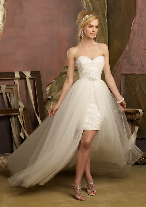 White Ivory Beach Short Front Long Train Detachable Skirt Wedding Dresses Bridal Gown Free Shipping 2 4 6 8 10 12 14 Custom Made In From