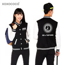 hoodie kpop bigbang BIGBANG baseball uniform GD same Sweatshirts Good Boy couple fleece jacket made exo Clothes bts V Coat Shirt