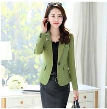 THYY 2018 Solid Short Spring Autumn Coat Blazer Women Suit Ladies Refresh Blazers Comfortable Women's Blazers Free Shipping A833