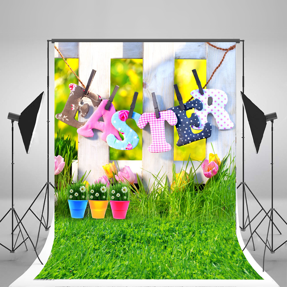 10X10FT Kate Easter Backgrounds for Photo Studio Letter Racks Fences Photography Backdrops Newborn Photography Props Photo Camer fotografia newborn photography props blanket letter racks fences photography backdrops background
