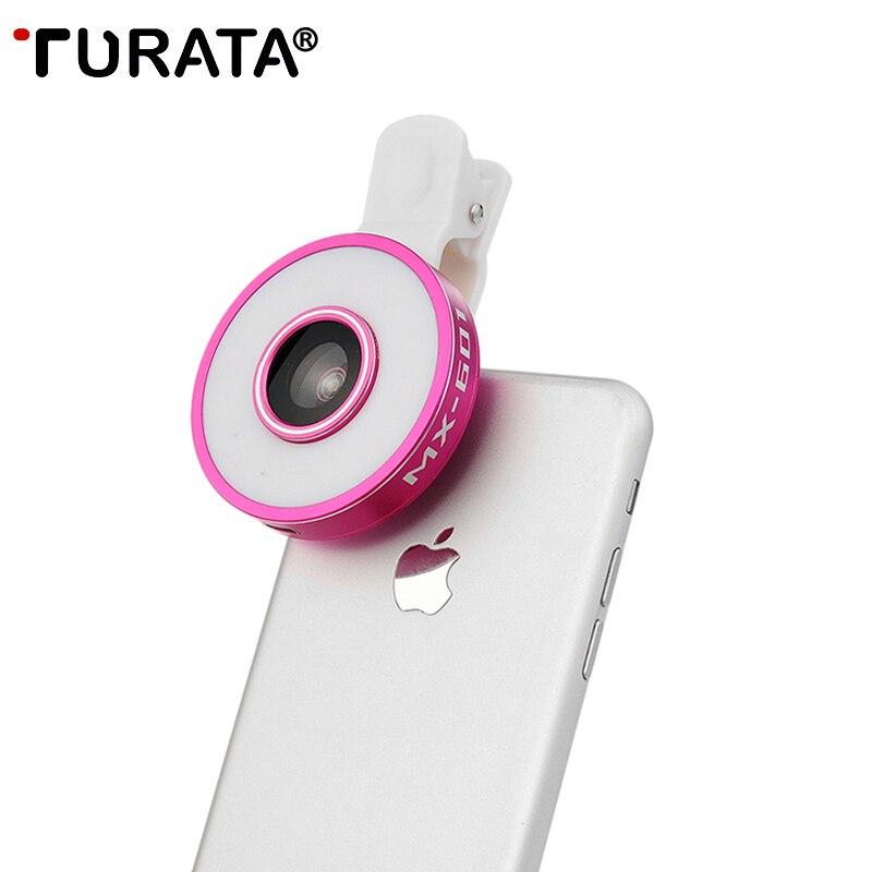 TURATA Universal 6 in 1 Phone Camera Lens 0 65X Wide Angle 185 Degrees Fisheye 10X