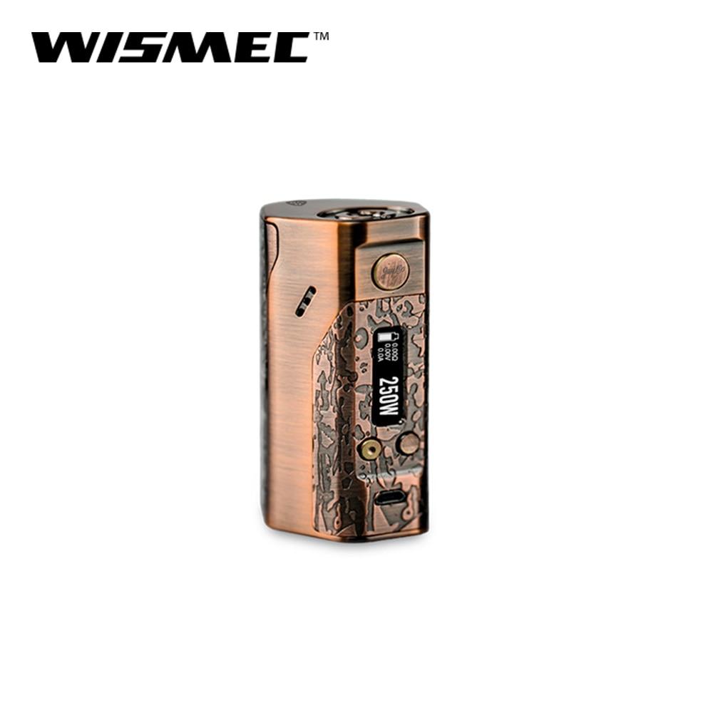Big Sale 100% Original Wismec Reuleaux DNA 250 Box Mod Evolv DNA250 250W Output Wattage TCVW Mode Electronic Cigarette