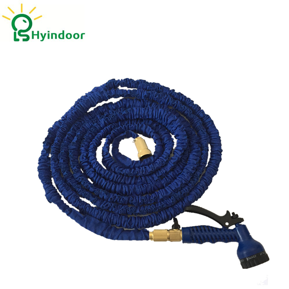 50Ft (15m) Blue Garden Flexible Expand Water Hoses Plumbing Hoses