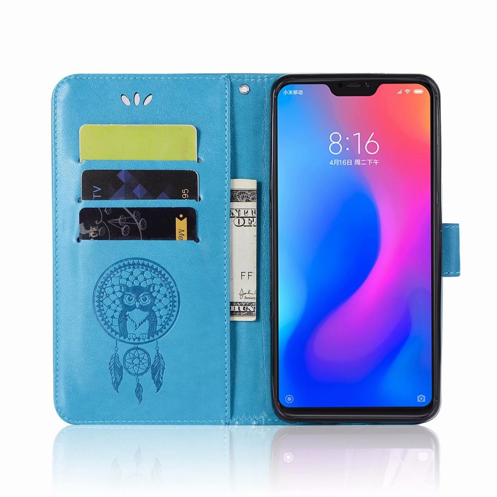 Redmi Note 6 Pro Phone Etui On For Fundas Xiaomi Redmi Note6 6pro Case Luxury Retro Owl Leather Flip Wallet Card Back Back Cover Cellphones & Telecommunications Phone Bags & Cases