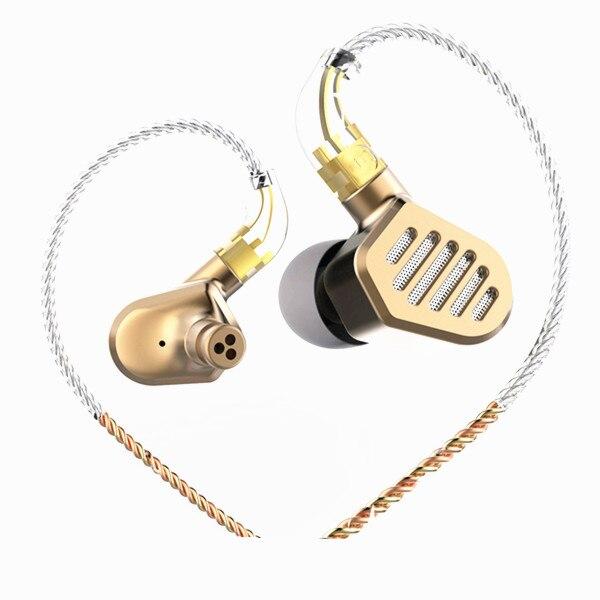 SENFER DT8 2BA + 2DD Гибридный в ухо наушники HIFI DJ металла под спортивные ушной наушники со съемной MMCX кабель