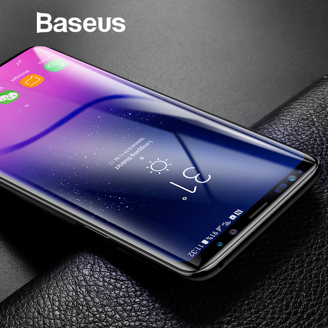US $7 99 30% OFF|Baseus 3D Surface Tempered Glass For Samsung S9 S9 Plus  Full Coverage Screen Protector For Samsung Galaxy S9 S9 Plus Glass-in Phone