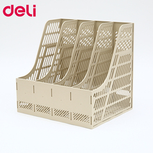 Deli 9845 document trays file box functional file organizer 3 cases desktop storage file folder with label the lahti file level 3