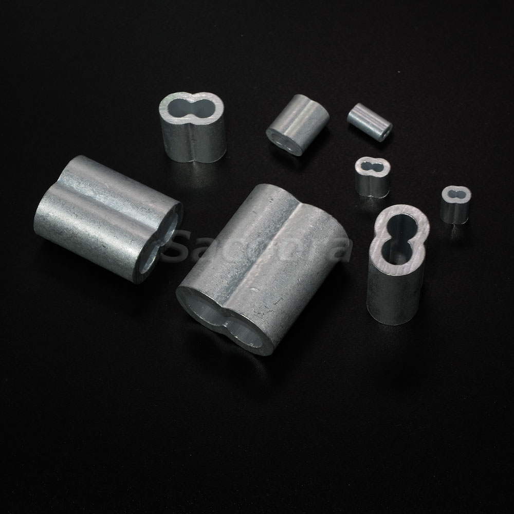Mm aluminum cable crimps sleeves clip fittings loop
