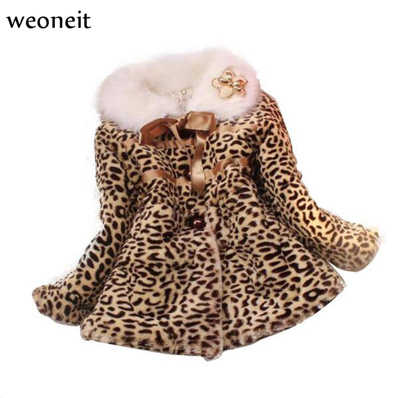 Baby Girls Winter Leopard Jacket Toddler Girl Warm Long Sleeve ...