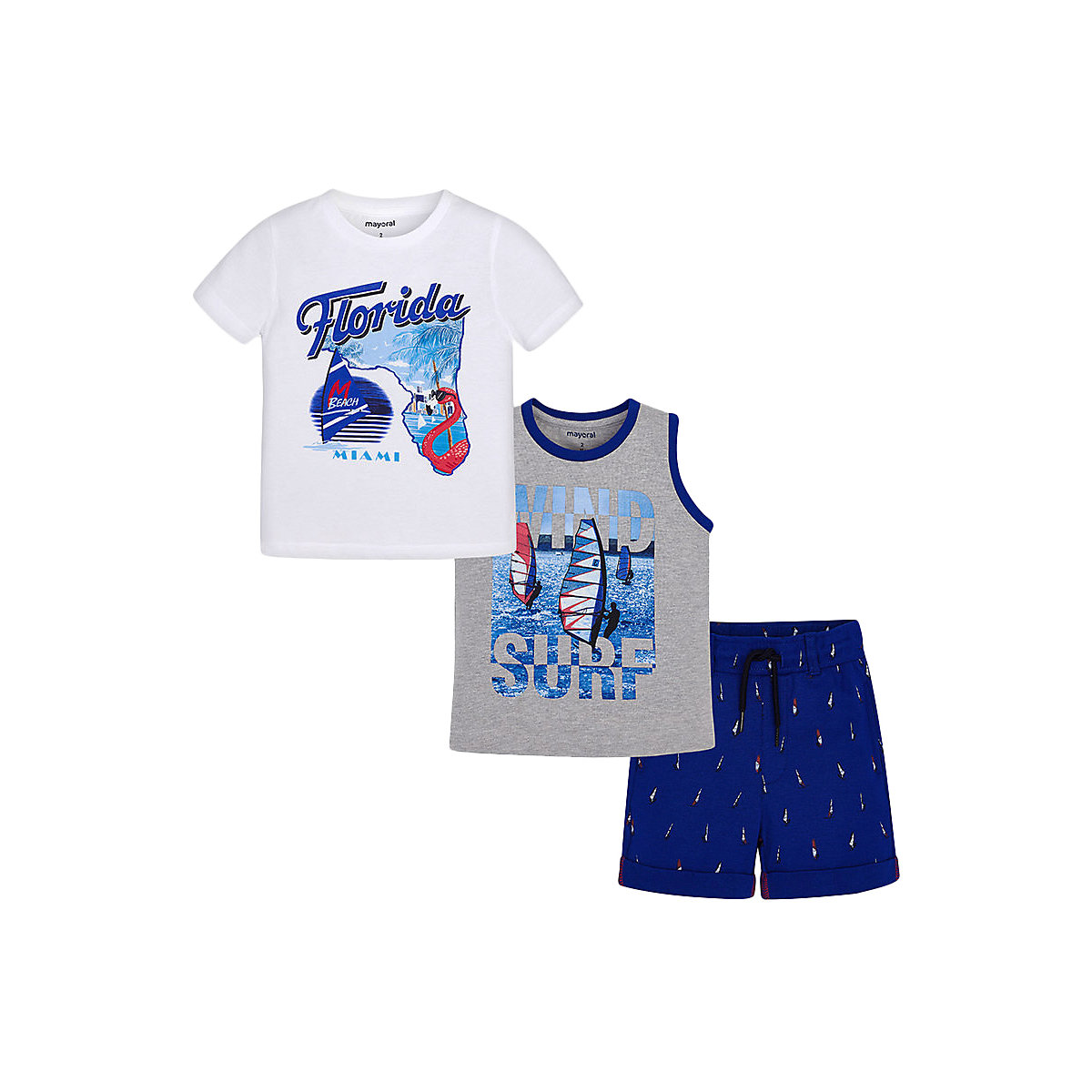Фото - Baby's Sets MAYORAL 10681463 set of clothes for kids T-shirt legs shirt shorts girls and boys shein kiddie girls white striped side casual top and shorts two piece set clothes sets 2019 spring long sleeve kids suit set