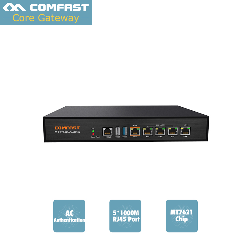 880Mhz Core Full Gigabit Gate way COMFAST CF-AC100 MT7621 wifi project manager AC controller with 4*1000Mbps WAN/LAN port comfast ac200 orange os system full gigabit wifi control ac gateway routing wireless roaming wifi coverage project manager route
