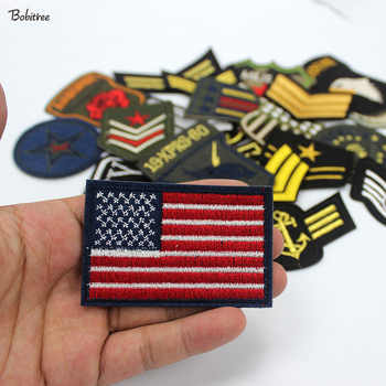 30pcs/set Mixed Troops Army Patches Badge Military Embroidery patch iron on for clothes Jacket Jeans Applique