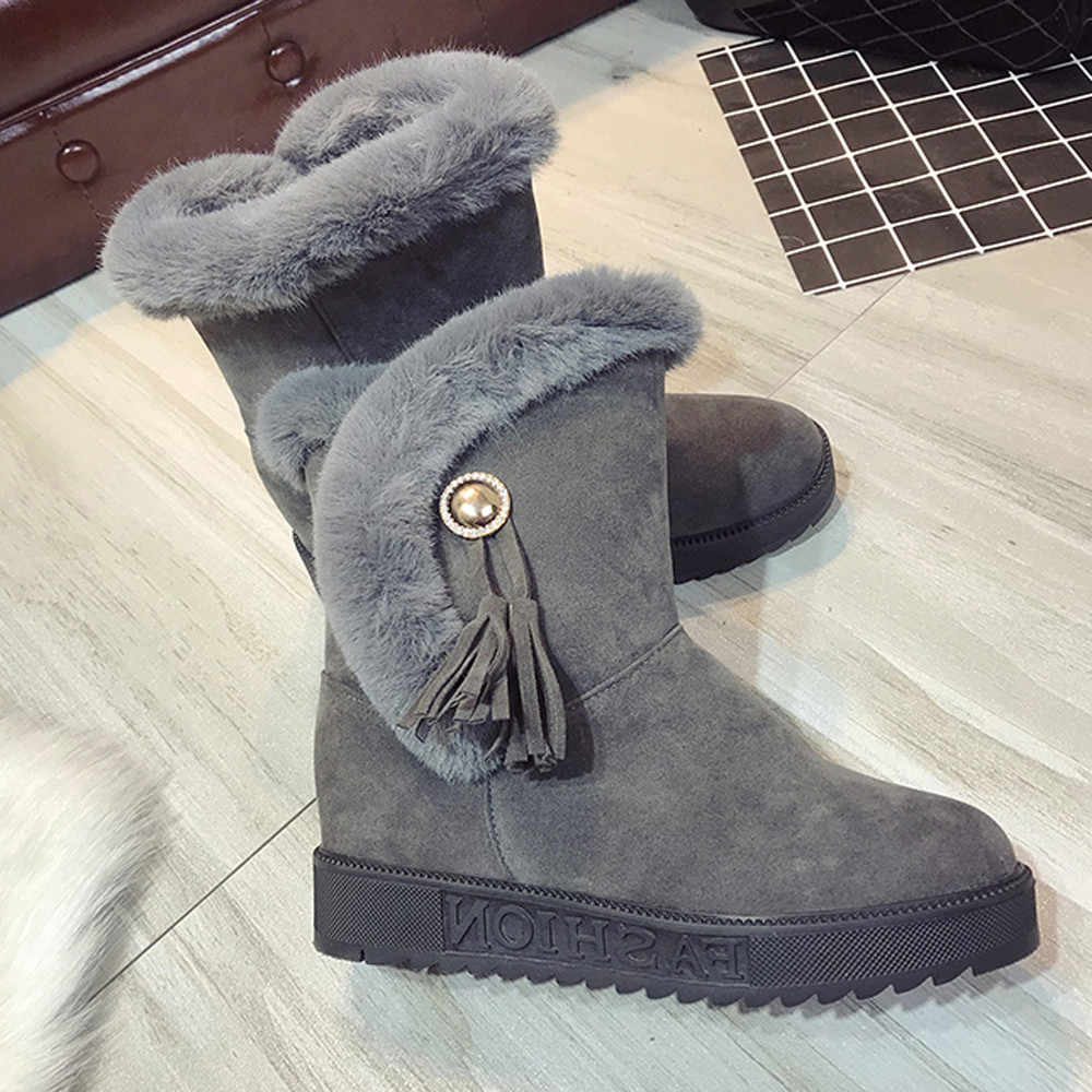 784f09785253 ... SAGACE 2019 Women Snow Boots Slip-On non-slip waterproof Plush Warm  winter Boot ...