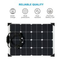 18V 50W Flexible Car Battery Solar Charger Portable Solar Panel Charger For Battery Charging Sun Power Charger