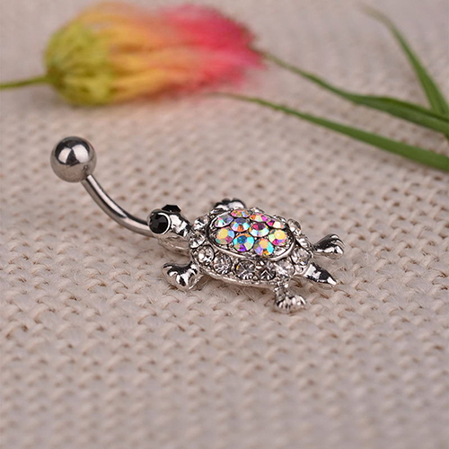 HTB1F87KPpXXXXbXXVXXq6xXFXXXj Cute Rhinestone Crystal Turtle Body Piercing Navel Ring