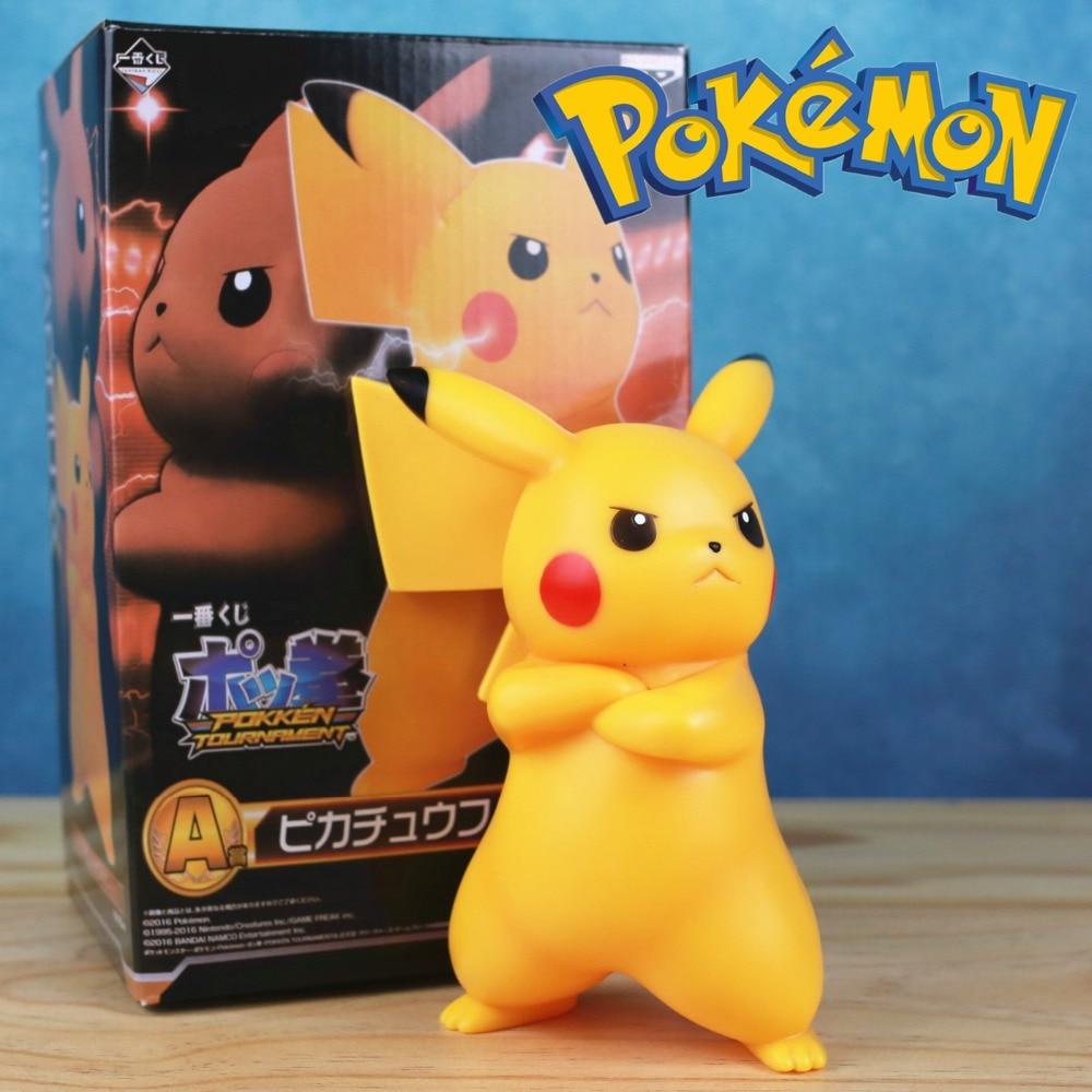 Ir com raiva pikachu pvc 17cm figura kawaii bonito q estátua boneca modelo brinquedos pikachu brinquedo figura figura crianças criança brinquedos coleção