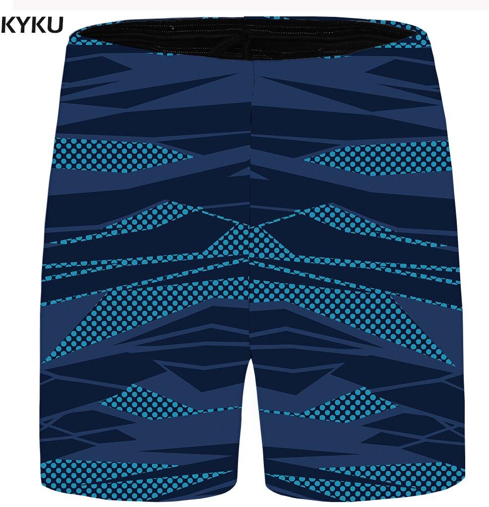 KYKU Pattern Shorts Men Space Cargo Casual Shorts Big Size 3d Printed Blue Beach Mens Short Pants 2018 New Summer High Quality