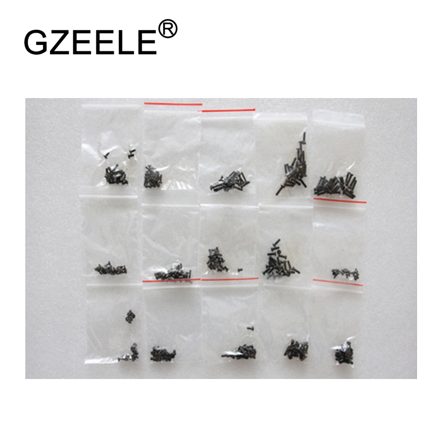 GZEELE New 300 Pcs Laptop Screws Set Kit With Case Computer Repair Screw Set Laptop Repair Screws 15 Specifications Set Black