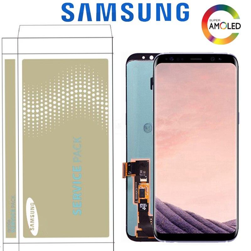 Oryginalny spalić cień wyświetlacz dla Samsung S8 Plus G955 G955F S8 G950F G950W ekran dotykowy LCD zamiennik digitizera z rama w Ekrany LCD do tel. komórkowych od Telefony komórkowe i telekomunikacja na AliExpress - 11.11_Double 11Singles' Day 1