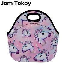 Jom Tokoy Unicorns Thermal Insulated 3d print Lunch Bags for Women Kids Bag Box Food Picnic Tote Handbag