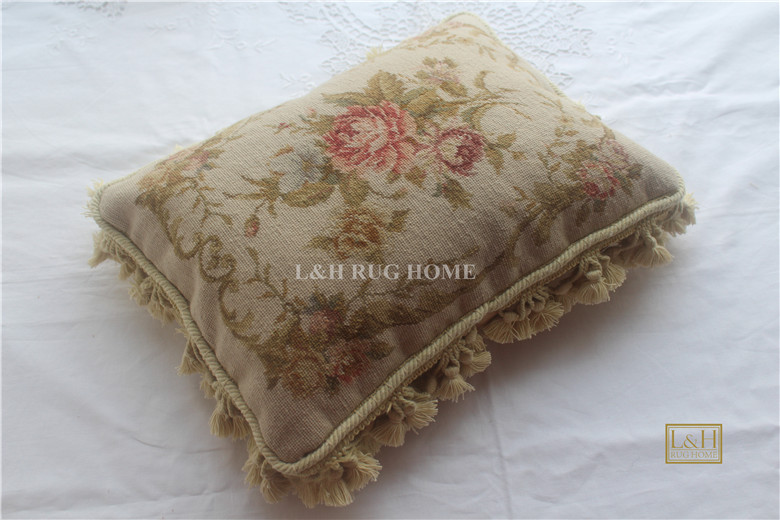 FREE SHIPPING 15K 12X16 Fine Wool Needlepoint pillow cover hand knotted cushion with floral designs no insertionFREE SHIPPING 15K 12X16 Fine Wool Needlepoint pillow cover hand knotted cushion with floral designs no insertion