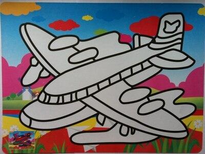 Livraison gratuite 500 pcs/lot-couleur autocollant cartes pour Sable art_20x28cm couleur sable art autocollant cartes
