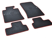 free ship rubber mat waterproof non slip wear resistant green latex car floor carpets for Mini