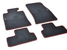 free ship  rubber mat waterproof non slip wear resistant green latex car floor carpets for Mini MINICOOPER clubman countryman