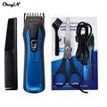 Profesional Eléctrica Recargable Pelo Trimmer Clipper Hombres Color Azul Peine Accesorio Haircuting Máquina Herramienta Adulto o el niño