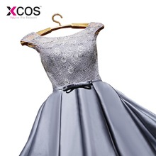 XCOS Homecoming Dress Cheap Red a Line Mini Appliques Cocktail Party Dress Above Knee Cheap Gray Short Lace Homecoming Dress