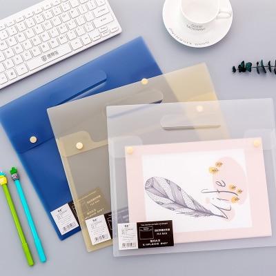 5pcs/Lot Transparent Clear Plastic File Folder A4 Portable Document Bag Waterproof PVC Document Organizer Bag For Documents