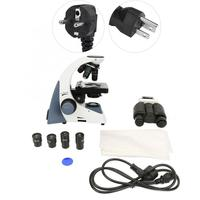 New 40 1000X Biological Microscope Students Educational Lab Biomicroscope 100 240V microscopio binocular
