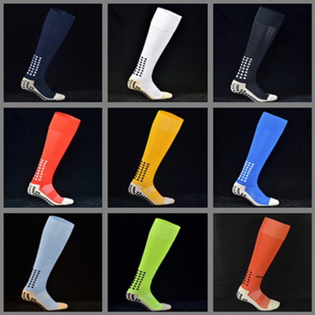 a68a4e10faaa 2 pairs Lot TOP Quality Anti-Slip TockSox Football Socks Full Length Soccer  Socks 1 1 TruSox Calcetin Futbol Meias Calcetines
